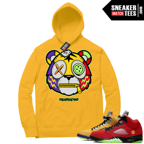 What the 5s Sneaker Hoodie Yellow Gold Misunderstood Tiger