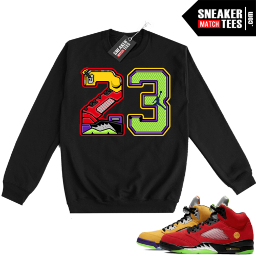 What the 5s Sweatshirt Crewneck Black 23