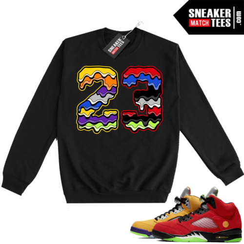 What the 5s Sweatshirt Crewneck Black 23 Drip