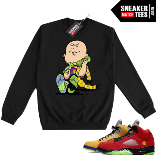 What the 5s Sweatshirt Crewneck Black Designer Charlie