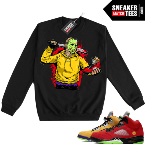 What the 5s Sweatshirt Crewneck Black Jason Cop