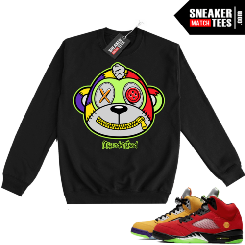 What the 5s Sweatshirt Crewneck Black Misunderstood Monkey