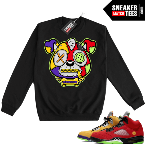 What the 5s Sweatshirt Crewneck Black Misunderstood Puppy