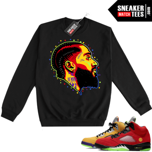 What the 5s Sweatshirt Crewneck Black Prolific