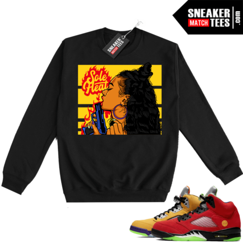 What the 5s Sweatshirt Crewneck Black Sole Heat
