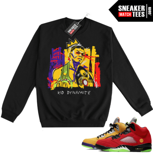 What the 5s Sweatshirt Crewneck Black Tyson Basquiat