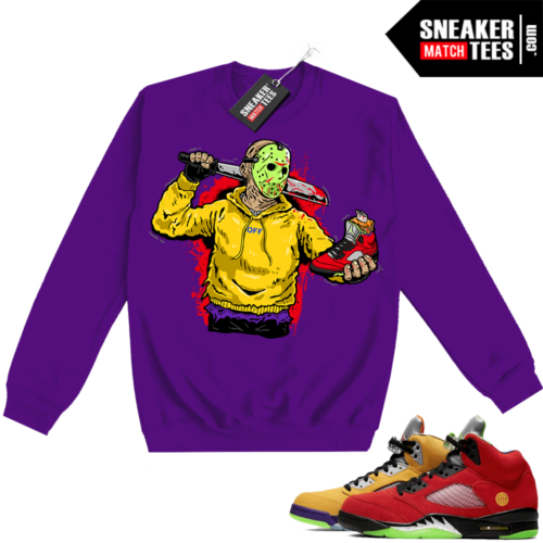 What the 5s Sweatshirt Crewneck Purple Jason Cop