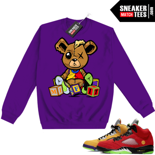 What the 5s Sweatshirt Crewneck Purple Misfit Teddy