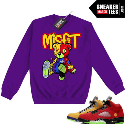 What the 5s Sweatshirt Crewneck Purple Misfit Voodoo Sneaker Bear