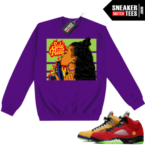 What the 5s Sweatshirt Crewneck Purple Sole Heat