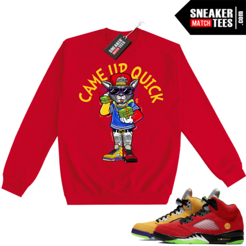What the 5s Sweatshirt Crewneck Red Came Up Quick