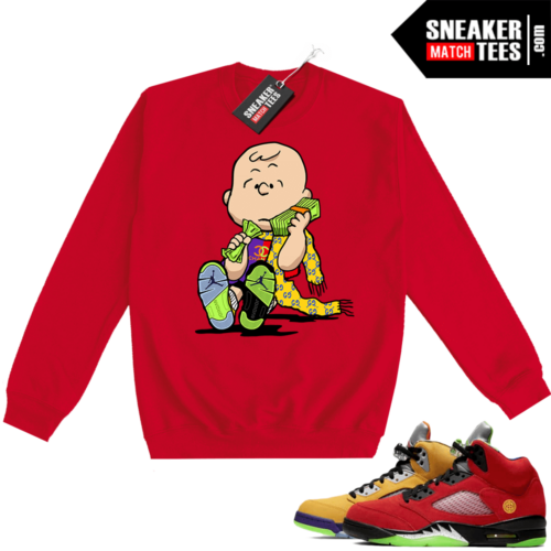 What the 5s Sweatshirt Crewneck Red Designer Charlie