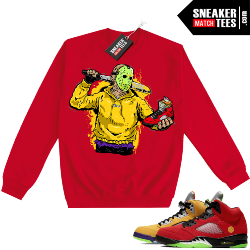 What the 5s Sweatshirt Crewneck Red Jason Cop