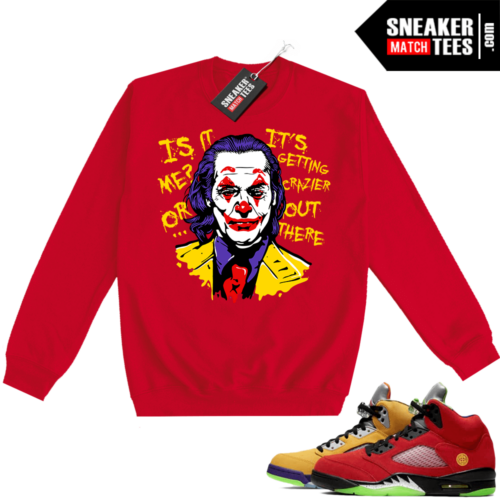 What the 5s Sweatshirt Crewneck Red Joker