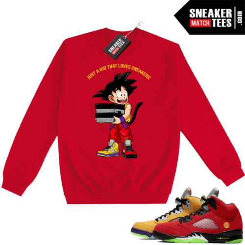 What the 5s Sweatshirt Crewneck Red Just A Kid