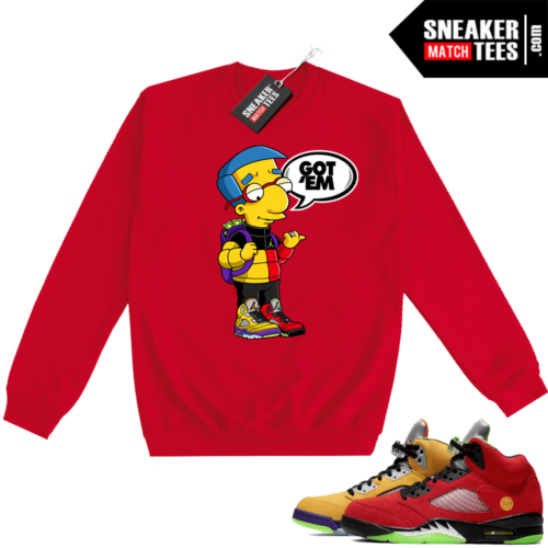What the 5s Sweatshirt Crewneck Red Millhouse Got EM