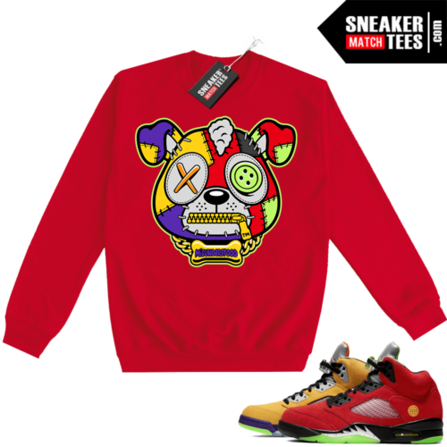 What the 5s Sweatshirt Crewneck Red Misunderstood Puppy