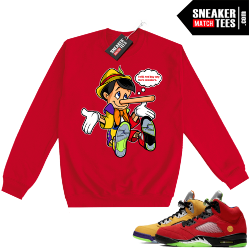 What the 5s Sweatshirt Crewneck Red No More Sneakers