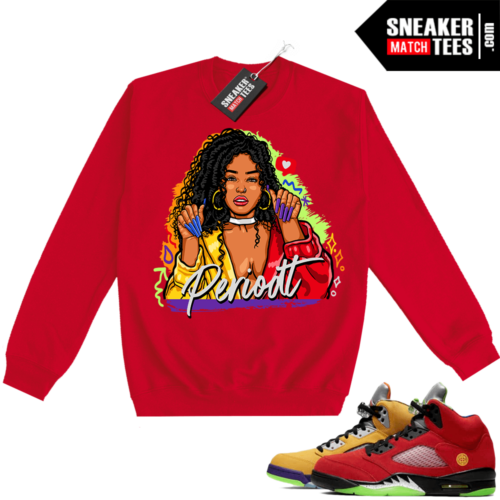 What the 5s Sweatshirt Crewneck Red PERIODT