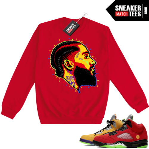 What the 5s Sweatshirt Crewneck Red Prolific
