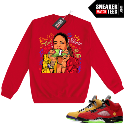 What the 5s Sweatshirt Crewneck Red Real Gs Move In Silence