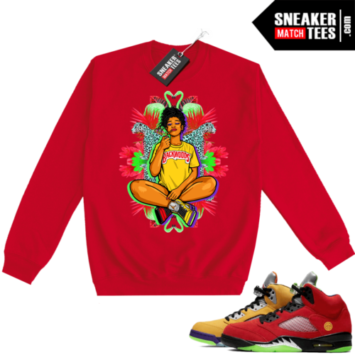 What the 5s Sweatshirt Crewneck Red Vibes