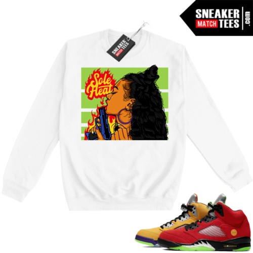 What the 5s Sweatshirt Crewneck White Sole Heat