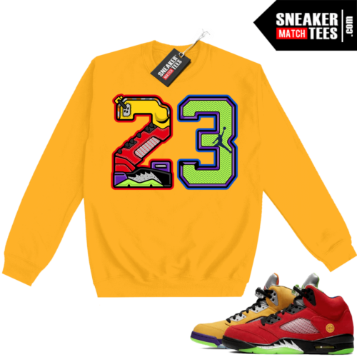 What the 5s Sweatshirt Crewneck Yellow 23