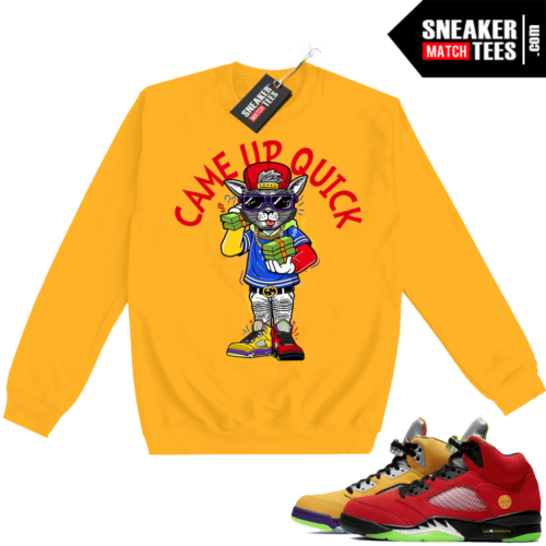 What the 5s Sweatshirt Crewneck Yellow Came Up Quick