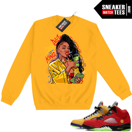 What the 5s Sweatshirt Crewneck Yellow Cash Is King