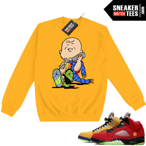 What the 5s Sweatshirt Crewneck Yellow Designer Charlie
