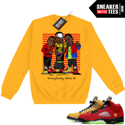What the 5s Sweatshirt Crewneck Yellow Everybody Eats B