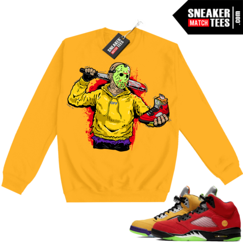 What the 5s Sweatshirt Crewneck Yellow Jason Cop