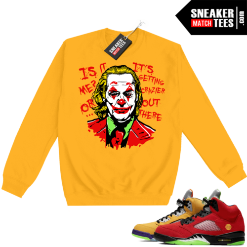 What the 5s Sweatshirt Crewneck Yellow Joker