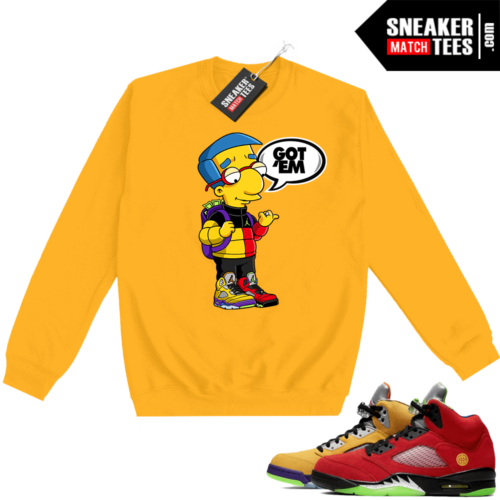 What the 5s Sweatshirt Crewneck Yellow Millhouse Got EM