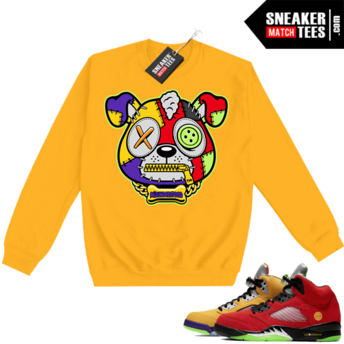 What the 5s Sweatshirt Crewneck Yellow Misunderstood Puppy