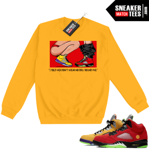 What the 5s Sweatshirt Crewneck Yellow No 350s