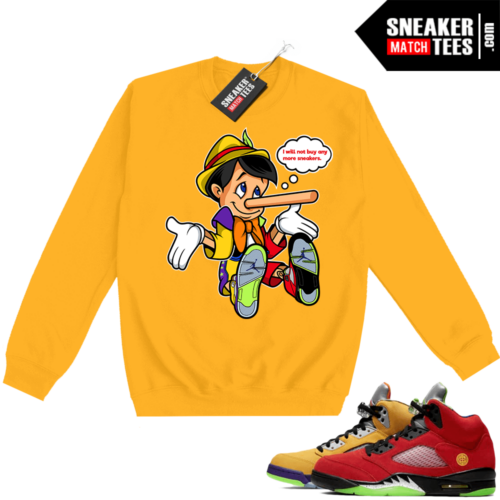 What the 5s Sweatshirt Crewneck Yellow No More Sneakers