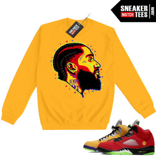 What the 5s Sweatshirt Crewneck Yellow Prolific