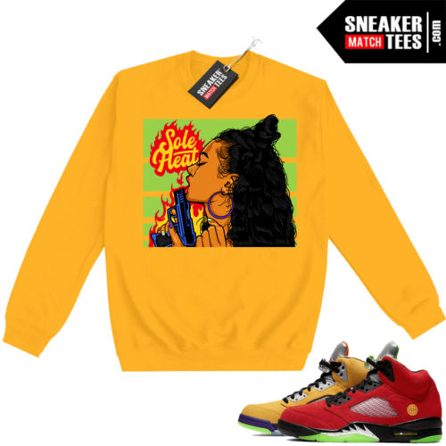 What the 5s Sweatshirt Crewneck Yellow Sole Heat