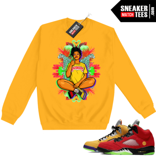 What the 5s Sweatshirt Crewneck Yellow Vibes