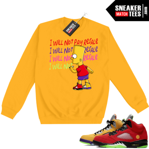 What the 5s Sweatshirt Crewneck Yellow Will Not Pay Resale