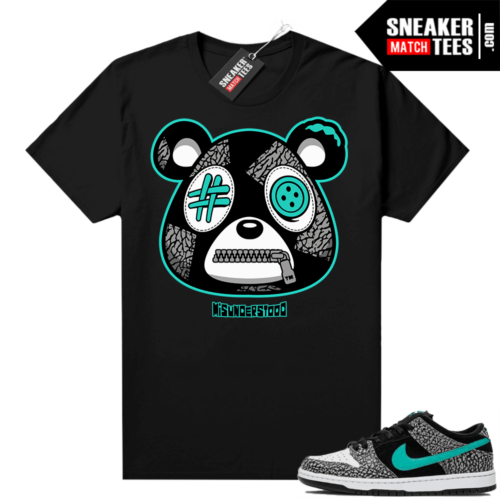 Atmos Elephant Nike SB Dunk Low Sneaker Match Tees Black Misunderstood Bear