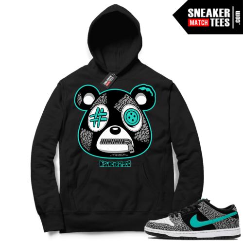 Atmos Elephant Nike SB Dunk Sneaker Match Hoodie Black Misunderstood Bear