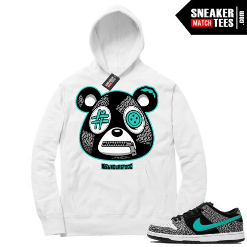 Atmos Elephant Nike SB Dunk Sneaker Match Hoodie White Misunderstood Bear