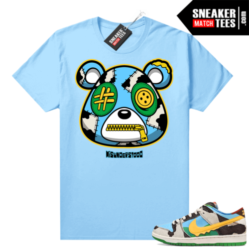 Chunky Dunky Dunks Sneaker Match Tees Baby Blue Misunderstood Bear
