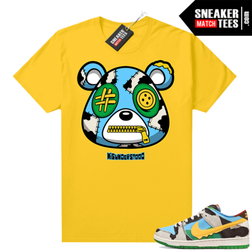 Chunky Dunky Dunks Sneaker Match Tees Yellow Misunderstood Bear