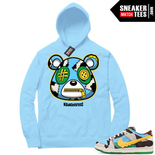 Chunky Dunky Nike SB Dunk Sneaker Match Hoodie Baby Blue Misunderstood Bear