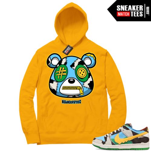 Chunky Dunky Nike SB Dunk Sneaker Match Hoodie Gold Misunderstood Bear
