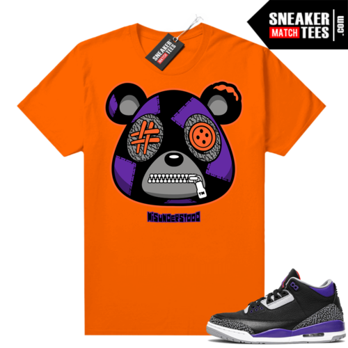 Court Purple 3s Sneaker Match Tees Orange Misunderstood Bear